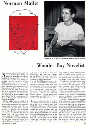 Norman Mailer       Wonder Boy Novelist - Project Mailer